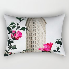 Pink Flowers in New York City (Color) Rectangular Pillow