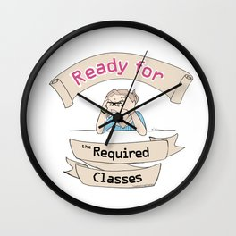 The Stuy-holic: Ready for the Required Classes Wall Clock