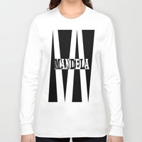 mandela Long Sleeve T-shirts featuring Mandela tribute by Brian Raggatt
