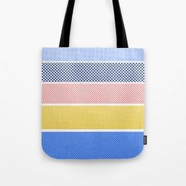 Halftone Stripes Tote Bag