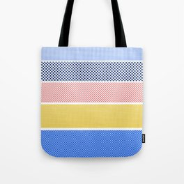 Halftone Stripes Tote Bag