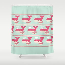 Triangwhales Shower Curtain