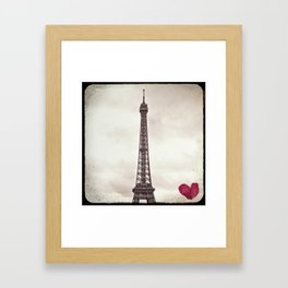Paris, Je t'aime (Eiffel Tower) Framed Art Print