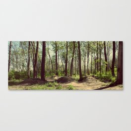 BMX Track in the Woods Canvas Print