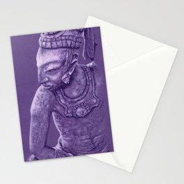 mayan nobleman violet Stationery Cards