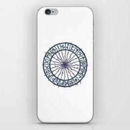 Elder Futhark Rune Wheel iPhone Skin