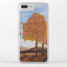 Fall trees Clear iPhone Case