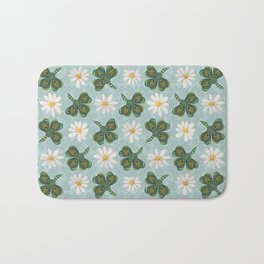 Clovers and Daisies Bath Mat