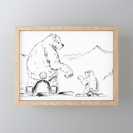 A Moments Paws Framed Mini Art Print