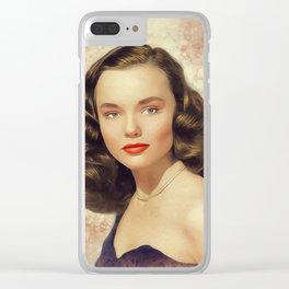 Wanda Hendrix, Vintage Actress Clear iPhone Case