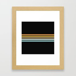 Retro Sunshine Stripes Framed Art Print