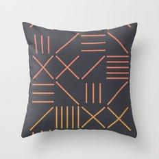 Geometric Shapes 09 Gradient Throw Pillow