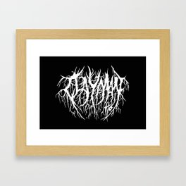 Black Rain Framed Art Print