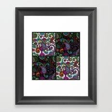 Paisley Panels Framed Art Print