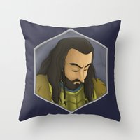 thorin Throw Pillows featuring Thorin by DodoRiv