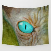 sphynx Wall Tapestries featuring Sphynx Stare by Bruce Stanfield