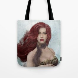 Gone - Portrait of a beautiful redhead girl Tote Bag