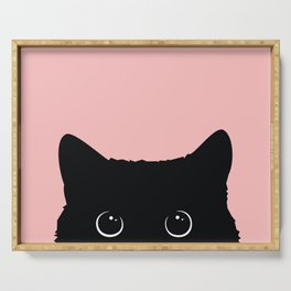 Black Cat Serving Tray