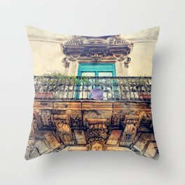 Trapani art 27 Sicilia Throw Pillow