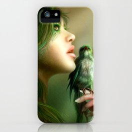 Green Whisper iPhone Case