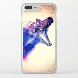 Frankenstein Wolf Clear iPhone Case