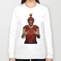 gladiator Long Sleeve T-shirts featuring German Gladiator Podolski by Akyanyme