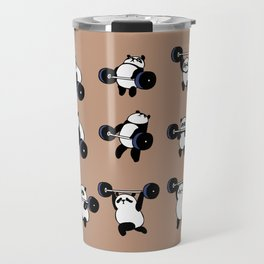 Olympic Lifting Panda Travel Mug