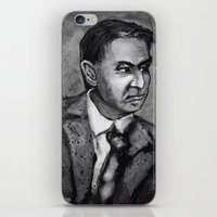 sagan iPhone & iPod Skins featuring Carl Sagan by Wesley S Abney