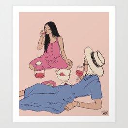 Pink Nik  Art Print