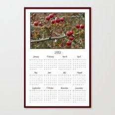 Berries 2013 Calendar Canvas Print