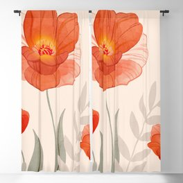 Summer Flowers II Blackout Curtain