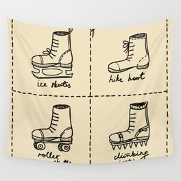 Sport shoes doodles Wall Tapestry