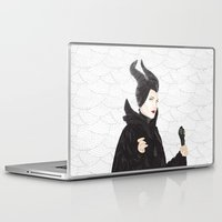 maleficent Laptop & iPad Skins featuring Maleficent by Eltina Giannopoulou