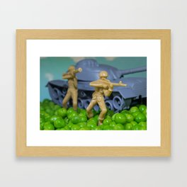 War and peas Framed Art Print