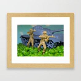 War and peas Framed Art Print
