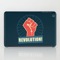 revolution iPad Cases featuring REVOLUTION! by Word Quirk