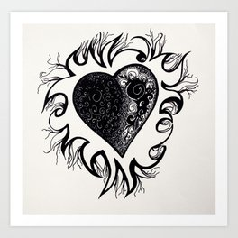 """If I Had A Heart, This Is What It Would Look Like"" Art Print"