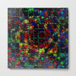 Urban Psychedelic Abstract Metal Print