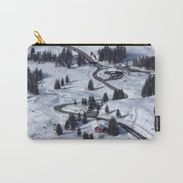 Mountain Winter Landscape Carry-All Pouch