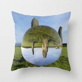 Penrhos Feilw lens ball 1 Throw Pillow