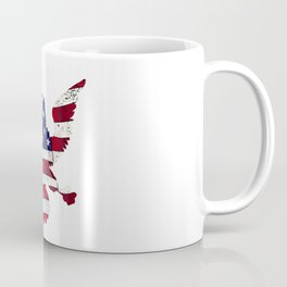 American Flag And Eagle Coffee Mug