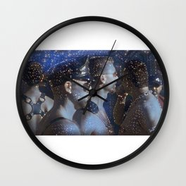 stars/leathermen Wall Clock