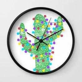 Festive Cactus Wall Clock