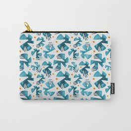Turquoise Flight Carry-All Pouch
