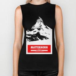 Mount Matterhorn Zermatt Swiss Alps Switzerland Mountain climbing Art Biker Tank
