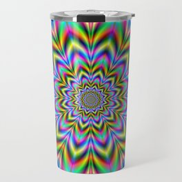 Psychedelic Flower Travel Mug