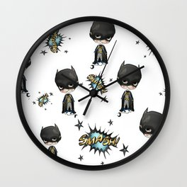 Super-cute-super-heroes bat-man Wall Clock