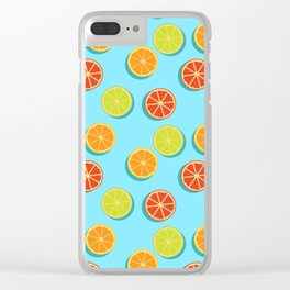 Summer insta fruits Clear iPhone Case