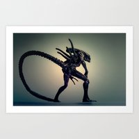 xenomorph Art Prints featuring The Xenomorph by Monster Brand