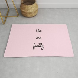 We are family Pink Rug